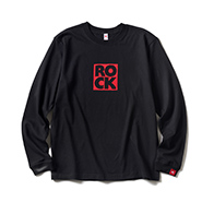 LONG SLEEVE T / ROCK (BLACK & RED)