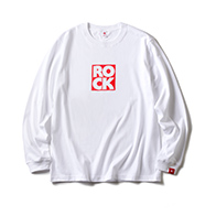 LONG SLEEVE T / ROCK (WHITE & RED)